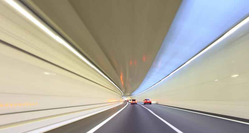 Flashé à 184 km/h dans un tunnel