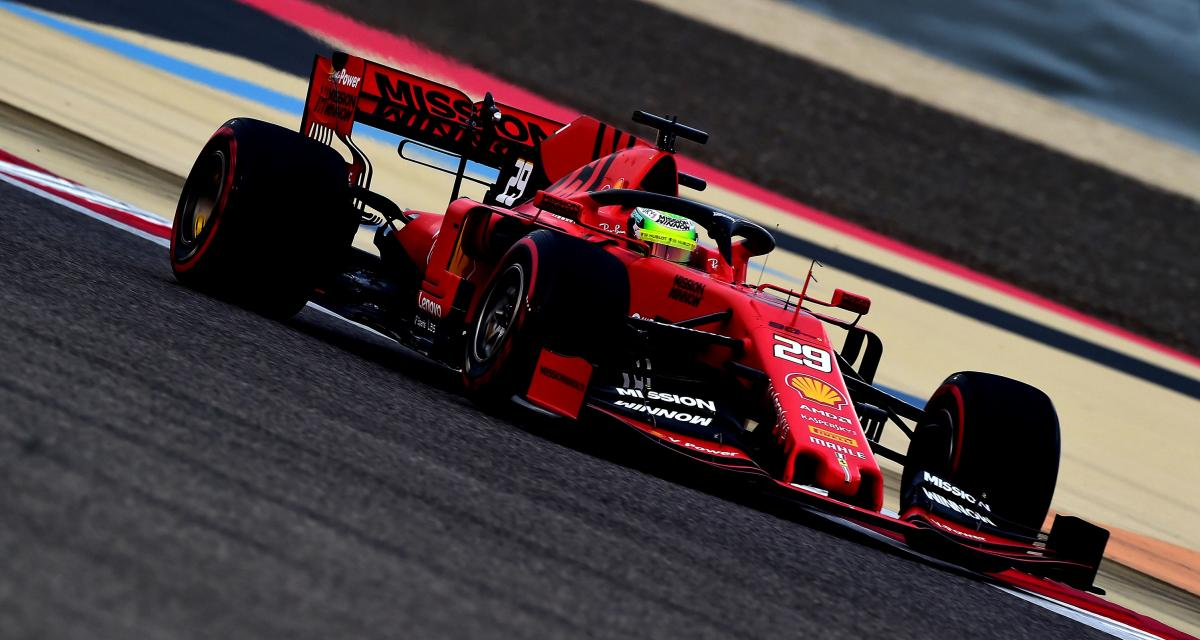 Mick Schumacher au volant d'une Ferrari