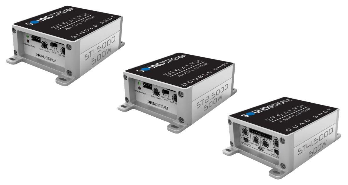 Soundstream étoffe sa gamme d'amplis Stealth avec des micro amplis