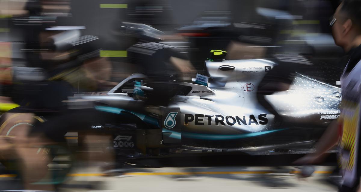 Essais libres du Grand Prix de Chine : les photos des Mercedes d'Hamilton et Bottas