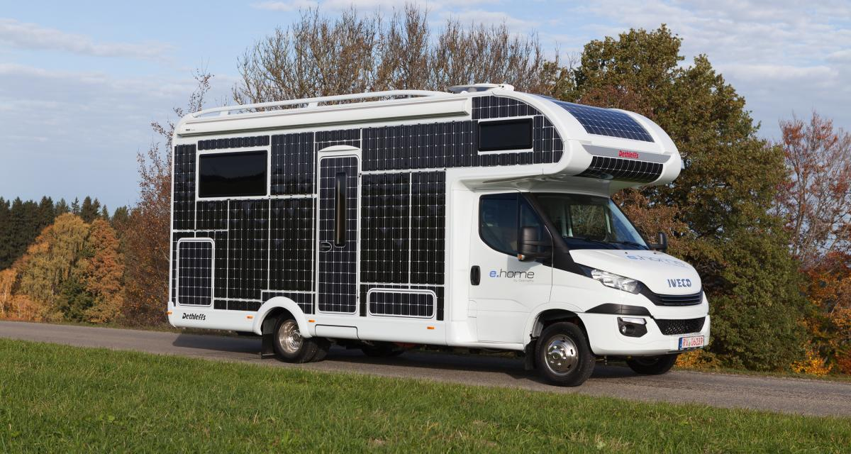 Camping-car e-Home Dethleffs: le soleil comme carburant