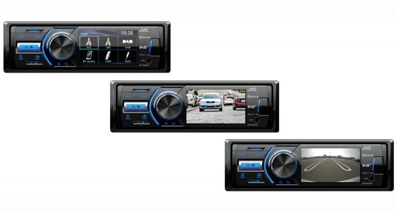 Un nouvel autoradio 1 DIN numérique avec écran en façade chez JVC