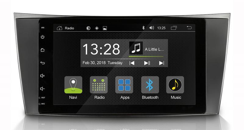 Radical commercialise un autoradio Android pour Mercedes Classe E à un prix très attractif