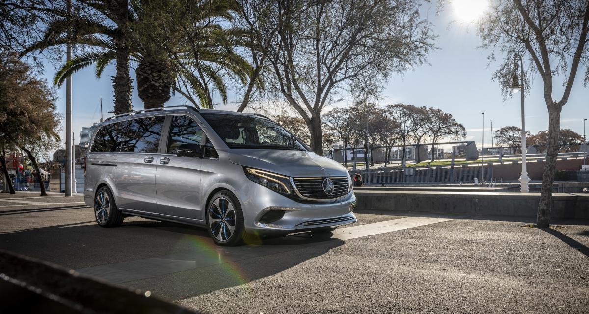 EQV Concept : le futur van électrique de Mercedes se montre à Barcelone