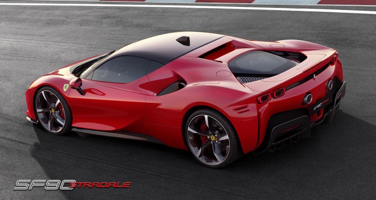 Ferrari SF90 Stradale : toutes les photos de la 1ère supercar en hybride rechargeable
