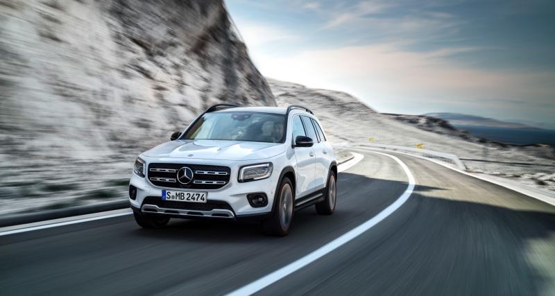 Mercedes Classe GLB: le SUV compact 7 places en quatre points