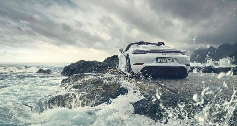 Nouvelle Porsche 718 BoxsterSpyder: toutes les photos de la sportive découvrable