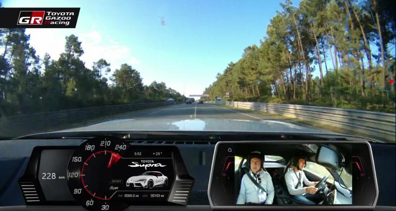 Toyota Supra : notre essai vidéo onboard sur le circuit des 24 heures du Mans