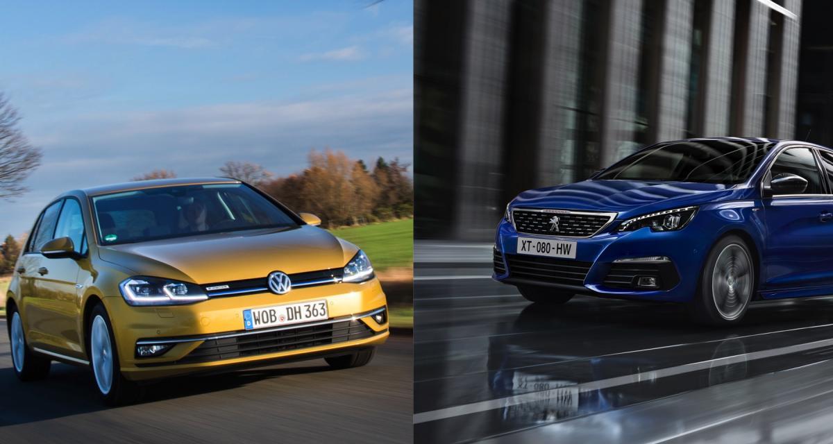 Volkswagen Golf 8 / Peugeot 308 III : auto-influence