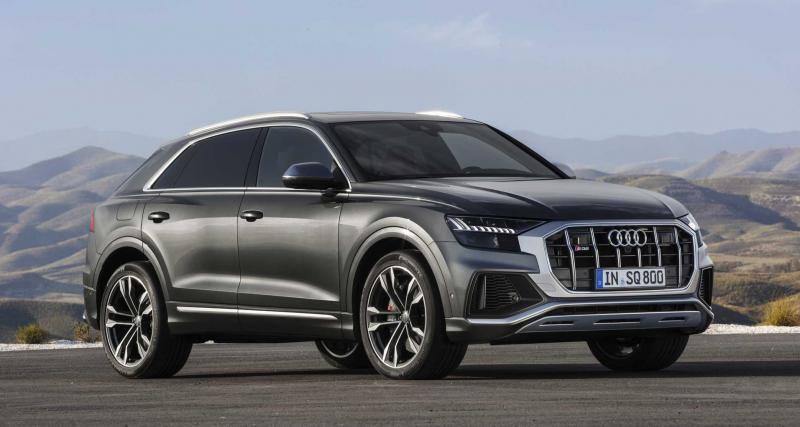 Audi SQ8 V8 de 435 chevaux : les photos du gros SUV allemand