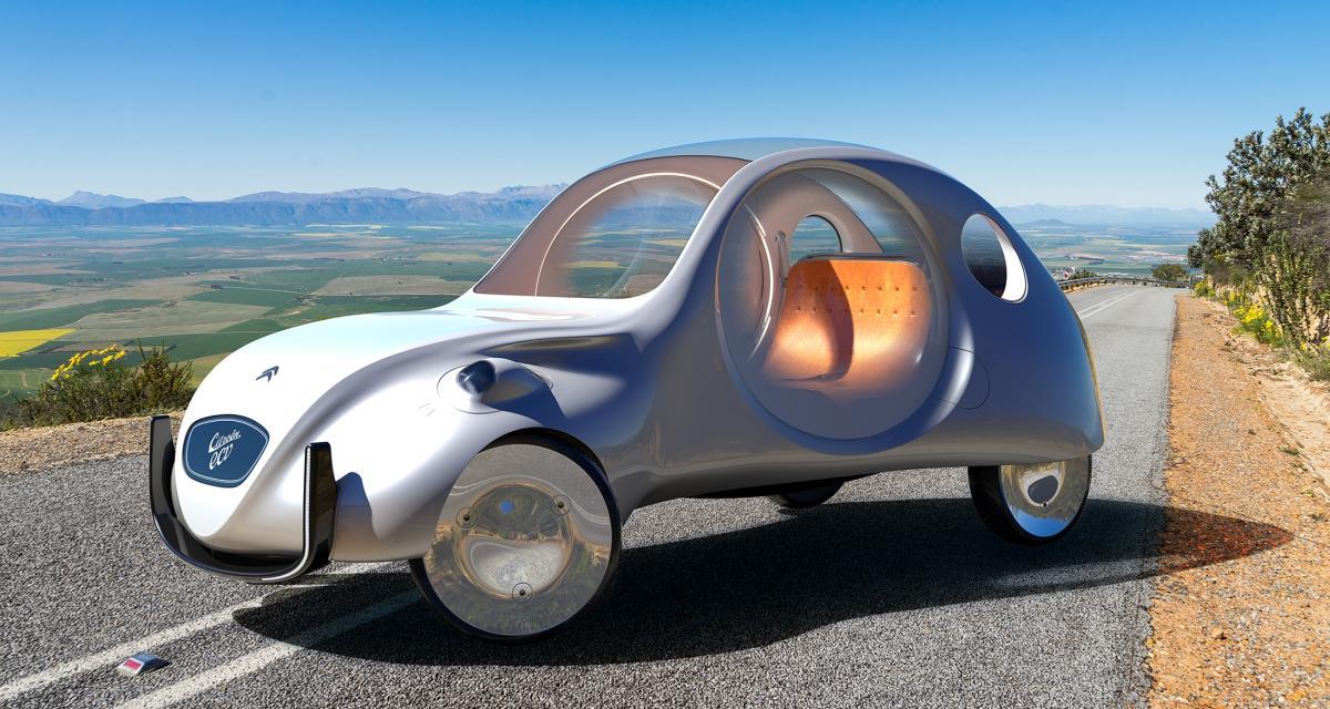 Citroën eCV : la 2CV électrique par Martin Hajek