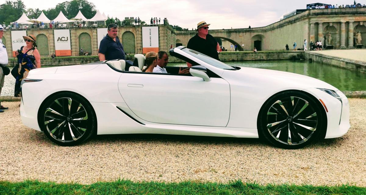 Concours d'élégance de Chantilly : nos photos de la Lexus LC Cabriolet Concept