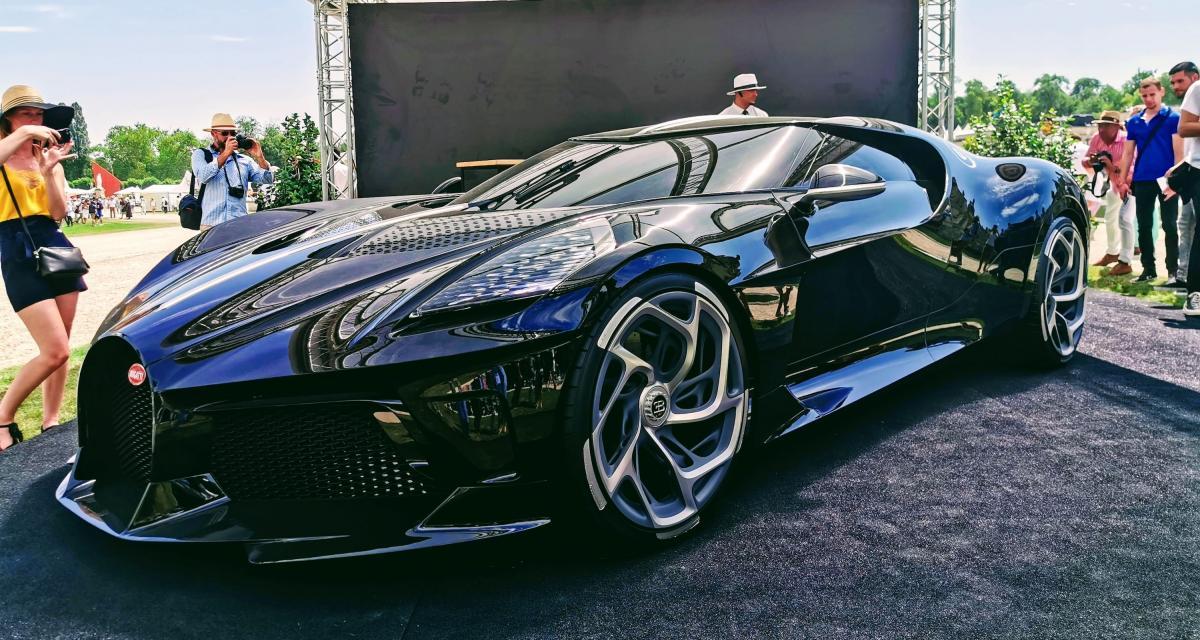 Concours d'élégance de Chantilly : nos photos de la Bugatti La Voiture Noire