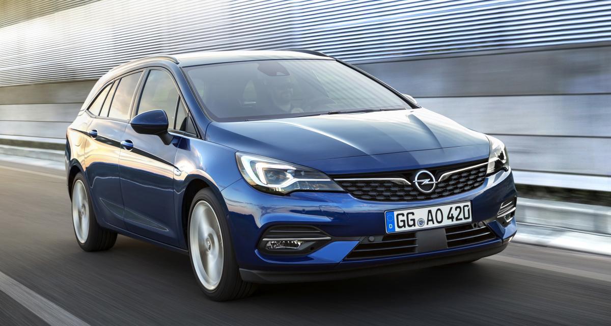 Toutes les photos de l'Opel Astra restylée : du nouveau sous le capot et une boîte 9 rapports