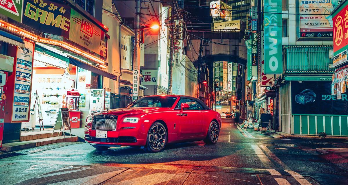 Rolls-Royce Black Badge : shooting photo international à Tokyo