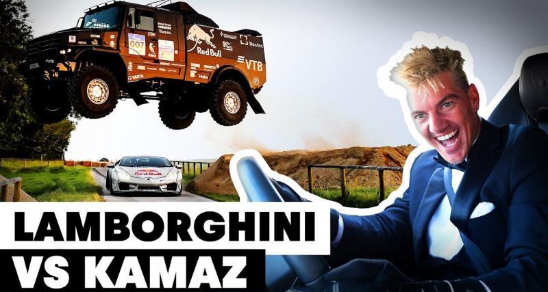 Festival of speed de Goodwood : un camion de rallye-raid saute au-dessus d'une Lamborghini