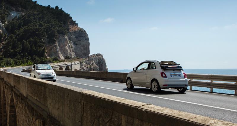 """Quels moteurs sont disponibles sur la série """"Dolcevita"""" de la Fiat 500 ?"""