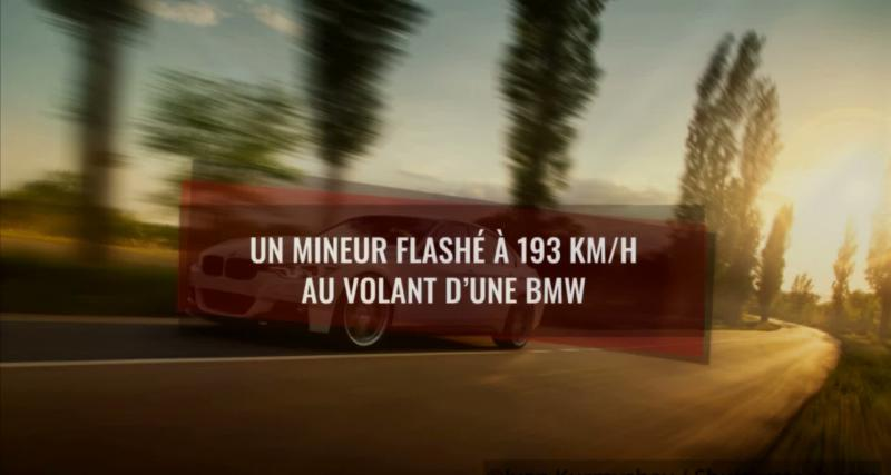 Un mineur flashé à 193 km/h au volant d'une BMW (vidéo)