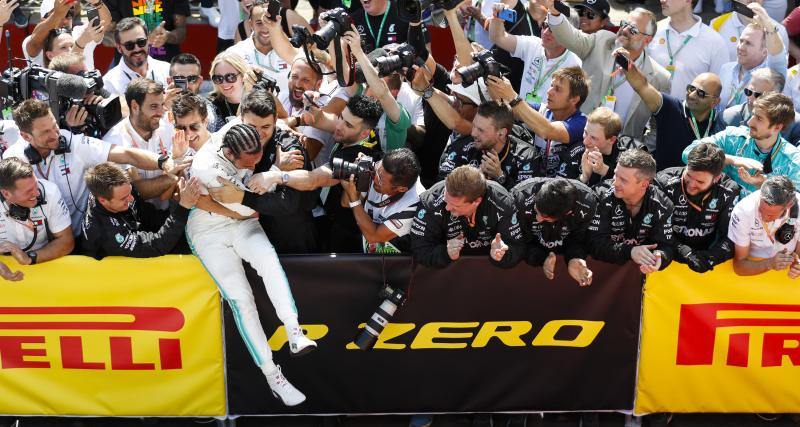 Grand Prix de Grande-Bretagne de F1 : la joie de Lewis Hamilton en vidéo après sa victoire