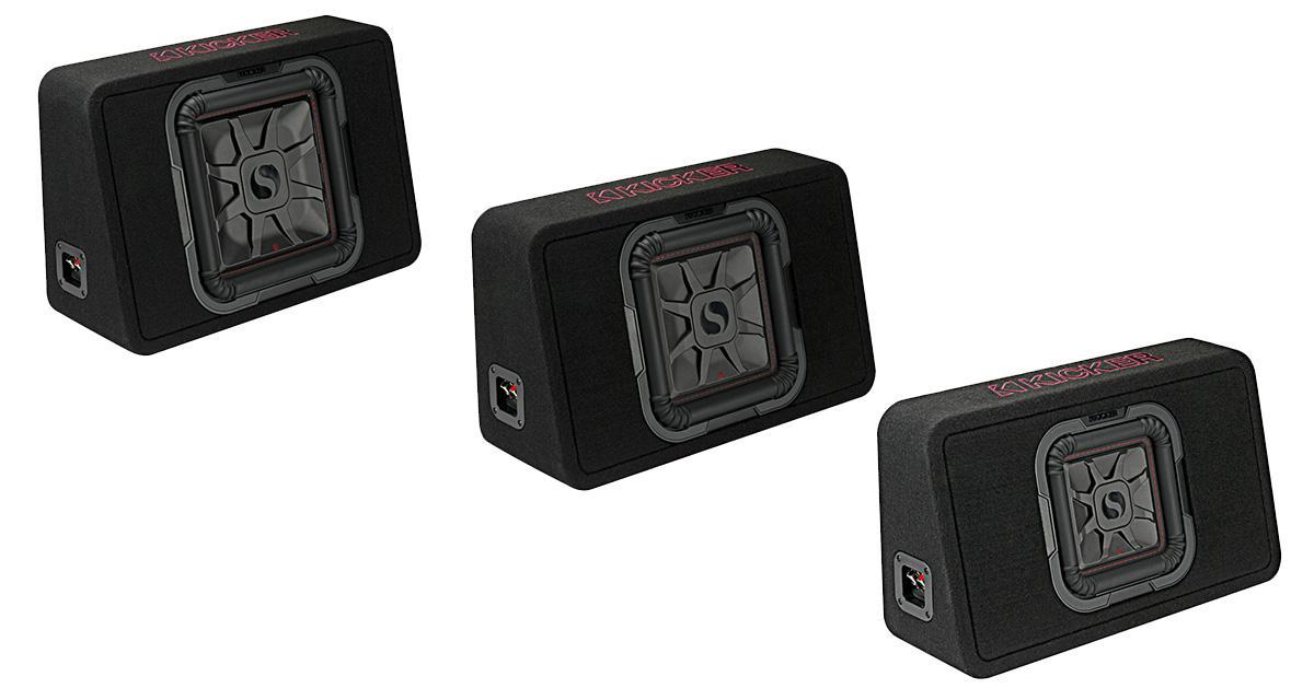 Kicker commercialise une nouvelle gamme de caissons de grave slim avec subwoofer carré