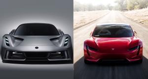 Lotus Evija vs Tesla Roadster : deux visions du coup de jus