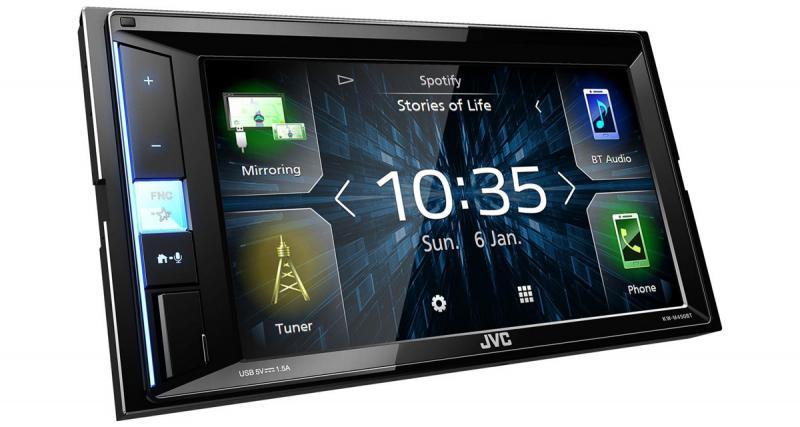 Un autoradio multimédia avec contrôle Smartphone Android chez JVC