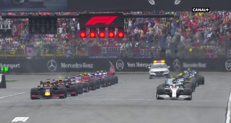 Le départ sous la pluie du GP d'Allemagne en vidéo