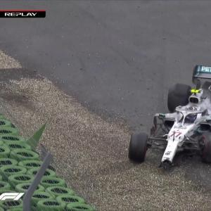 GP d'Allemagne de F1 : le crash de Bottas en vidéo