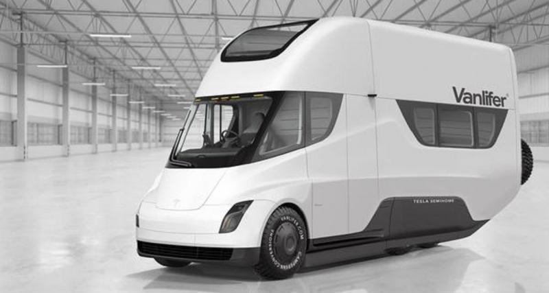 Tesla Semi, un camping-car complet selon Vanlifer