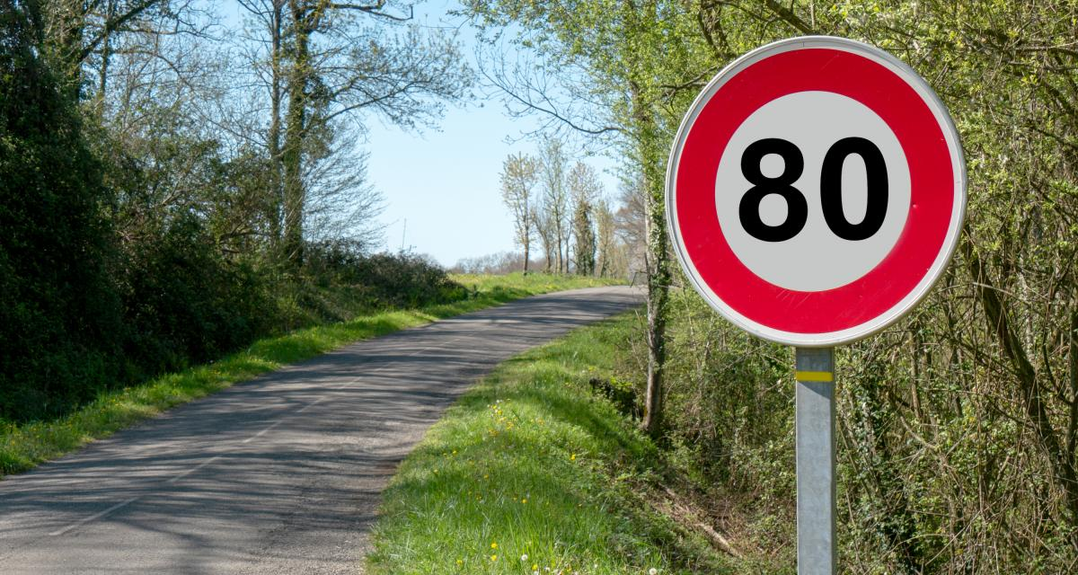 Intercepté à 168 km/h sur une route limitée à 80 km/h