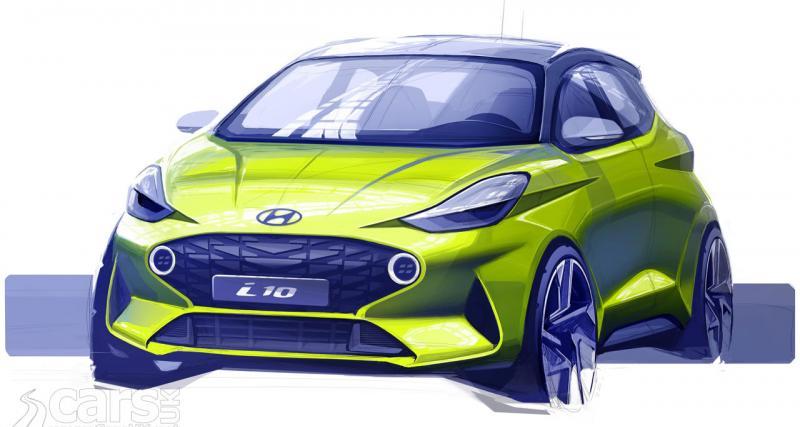 La nouvelle Hyundai i10 se dévoile par un croquis