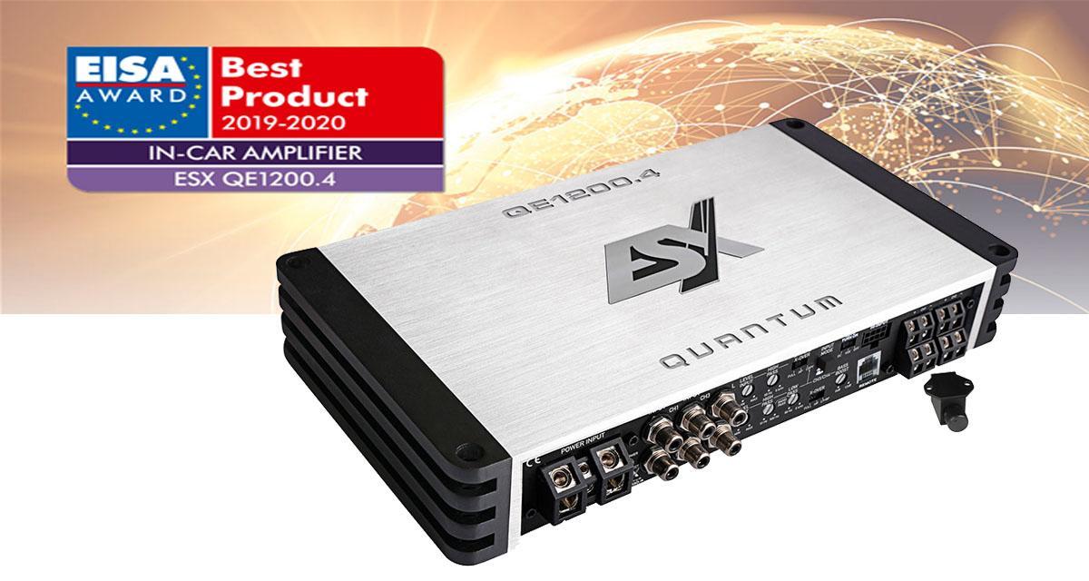 L'ampli QE1200.4 d'ESX a été primé à l'EISA 2019-2020