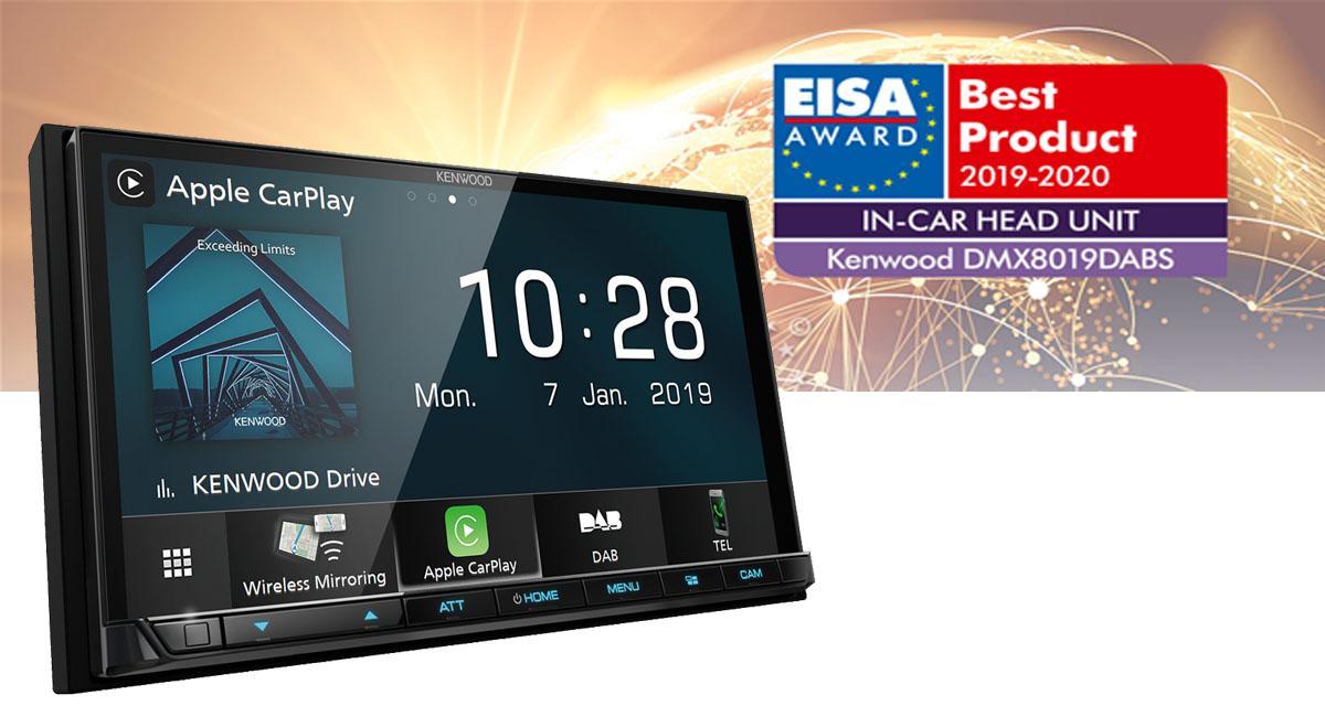 Le DMX8019DABS de Kenwood reçoit le prix de l'autoradio de l'année à l'EISA 2019-2020