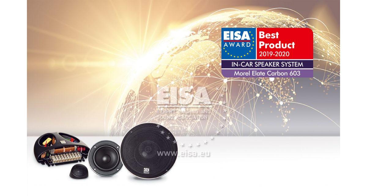 Morel a été primé à l'EISA 2019-2020 pour son kit 3 voies Elate Carbon 603
