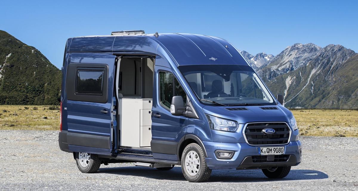 Camping-car Ford Big Nugget: le concept de la pépite à l'ovale bleu