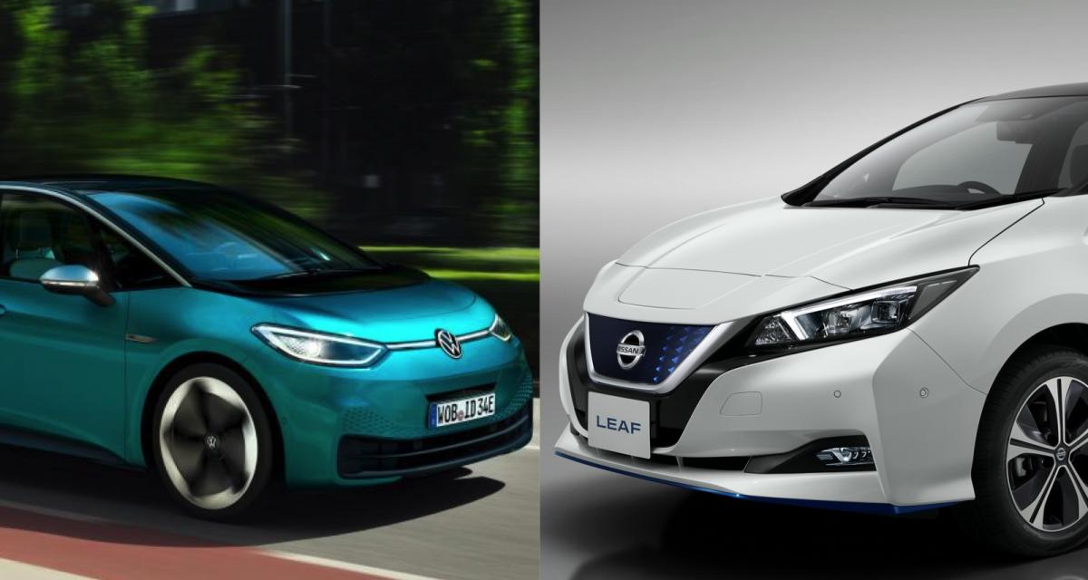 Volkswagen ID.3 vs Nissan Leaf : duel alternatif