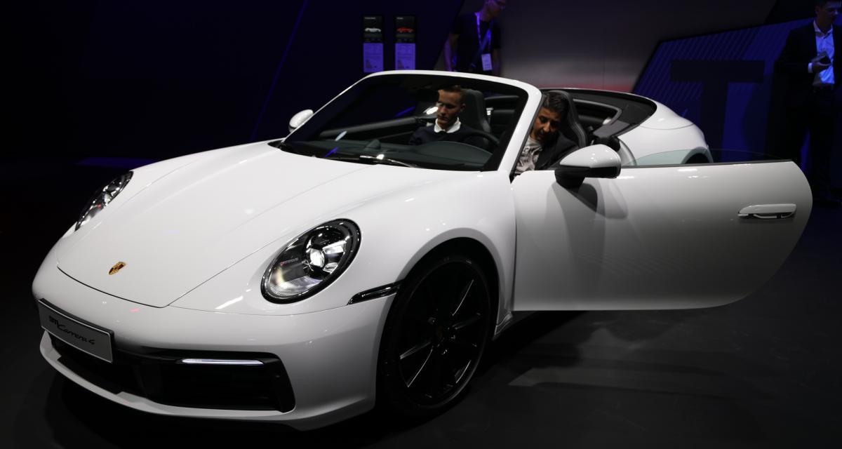 Porsche 911 Carrera 4 Cabriolet : nos photos au salon de Francfort 2019