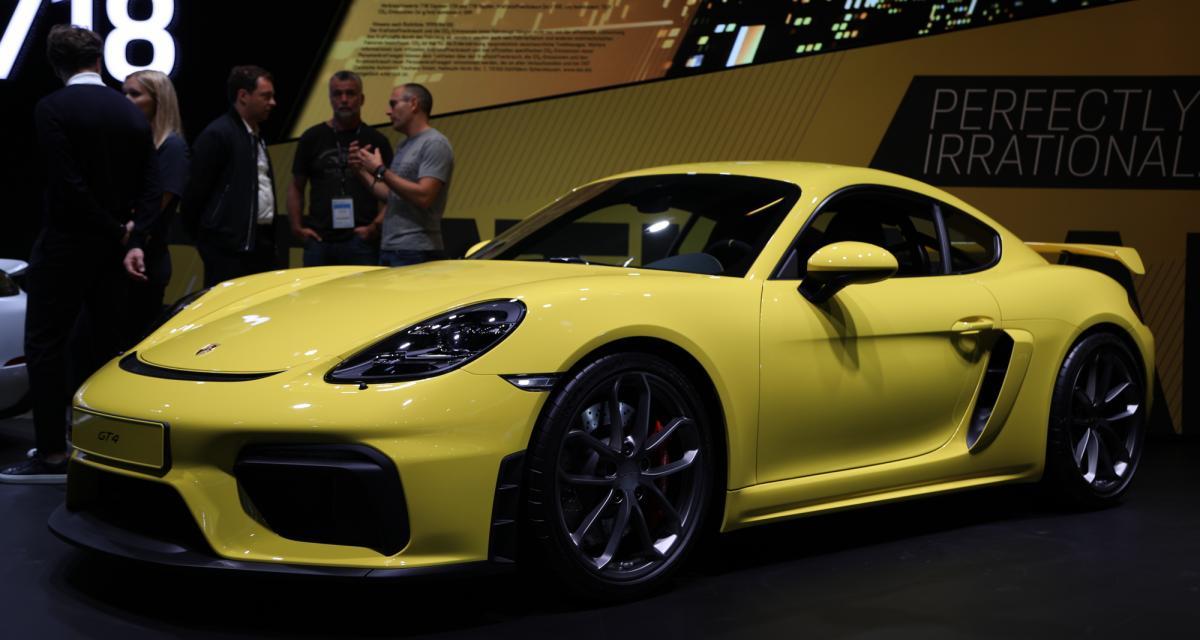 Porsche 718 Cayman GT4 : nos photos de la sportive allemande au Salon de Francfort