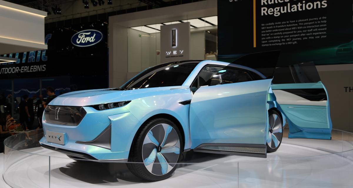 Wey-X : le concept-car qui copie Peugeot s'expose à Francfort
