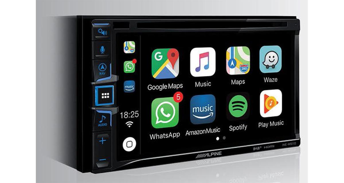 Alpine dévoile un nouvel autoradio CarPlay et Android Auto