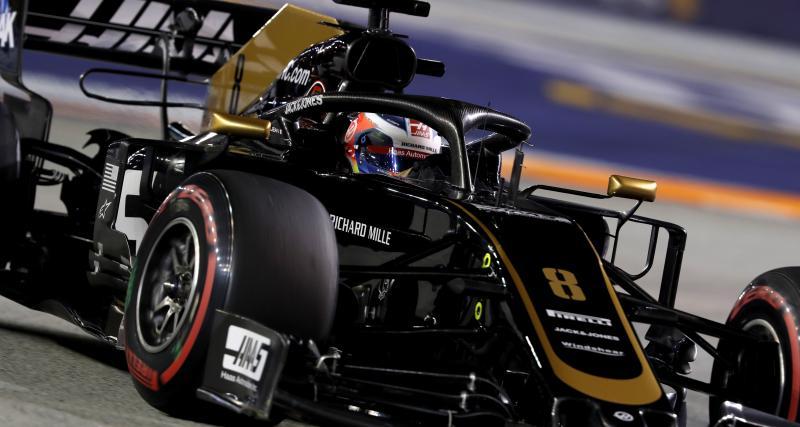 Grand Prix de Singapour de F1 : Russel percuté par Grosjean en vidéo !