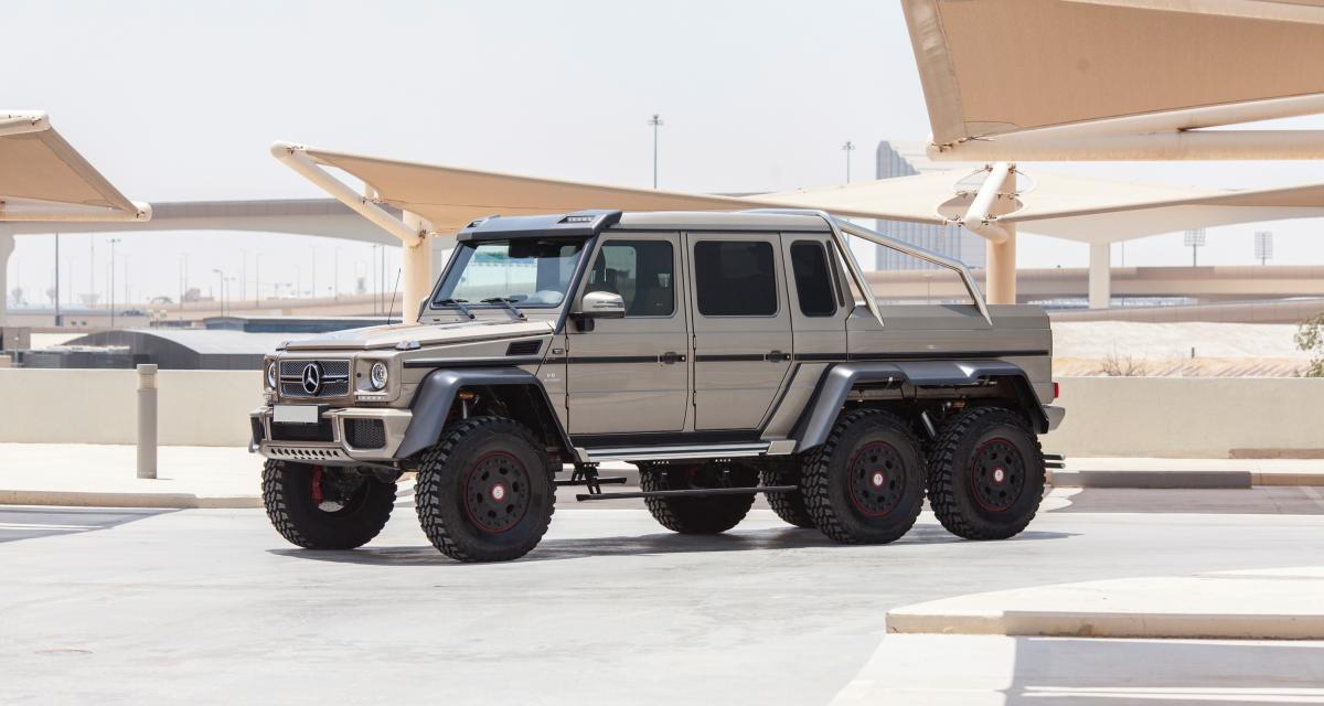 Mercedes G63 AMG 6x6 : le monstrueux 6x6 bientôt aux enchères à Abu Dhabi