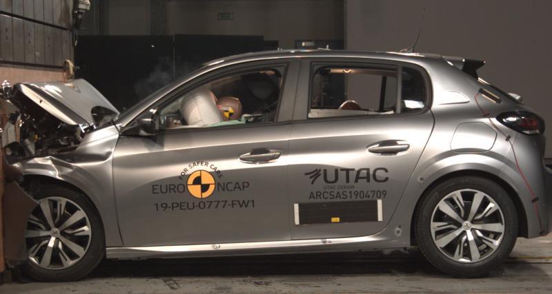 Nouvelle Peugeot 208 : 4 étoiles sur 5, le crash-test qui fait mal… aux piétons