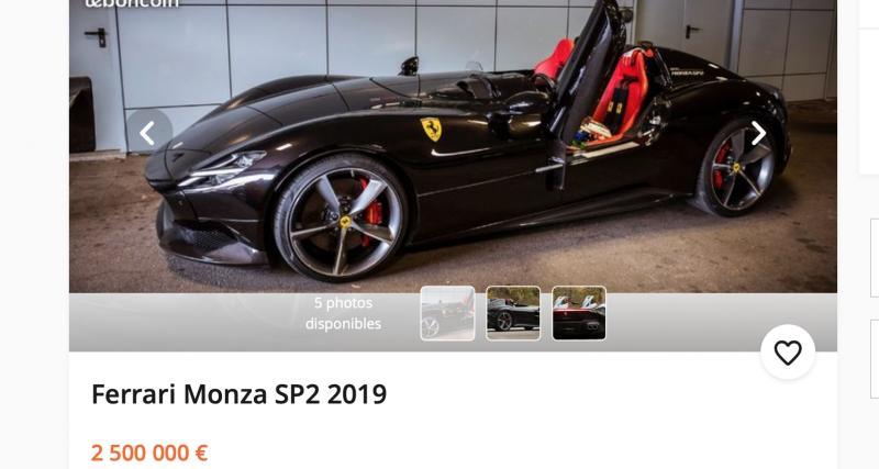 Une Ferrari Monza SP2 à vendre sur leboncoin pour 2,5 millions d'euros