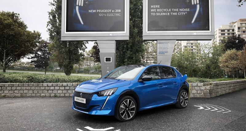 Peugeot e-208 : faites du bruit pour recharger la citadine électrique