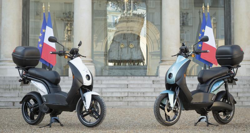 Le scooter électrique Peugeot e-Ludix entre à l'Elysée