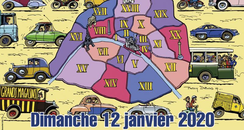 20e Traversée de Paris : 700 véhicules anciens dans Paris le 12 janvier 2020