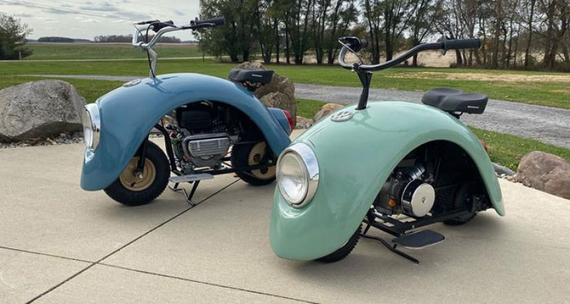 Volkspod : le scooter old school fabriqué à partir d'une aile de Volkswagen Cox