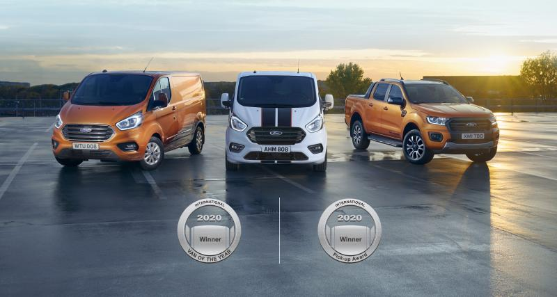 Ford Utilitaires : médaille d'or pour la gamme électrifiée Ford Hybrid Transit Custom