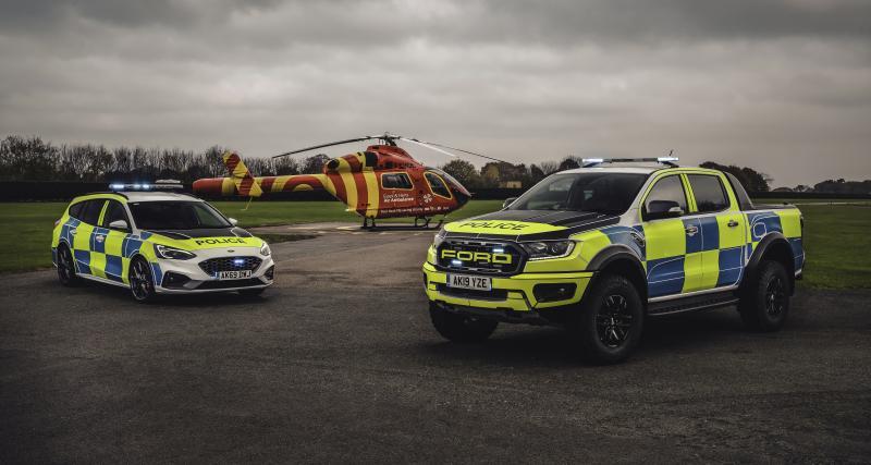 Ford Ranger Raptor et Focus ST pour la police anglaise : véhicules d'intervention au top